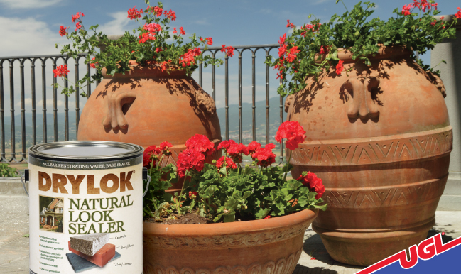 UGL Blog DRYLOK Natural Look Sealer Terra Cotta Planters