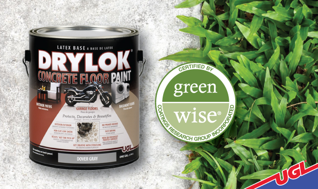 DRYLOK® Latex Concrete Floor Paint is Green Wise® Certified