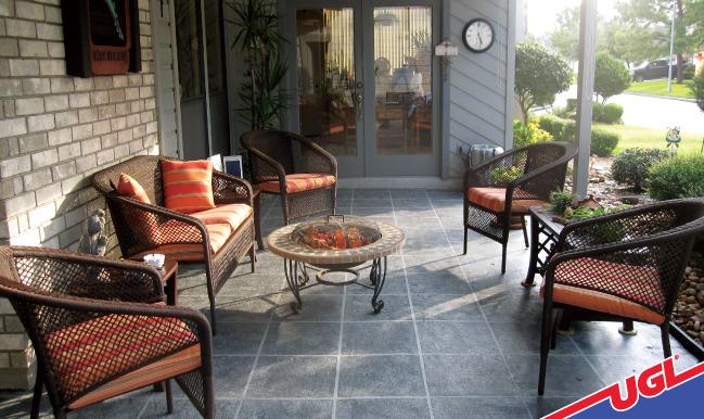 Transform plain concrete into stunning faux tiles