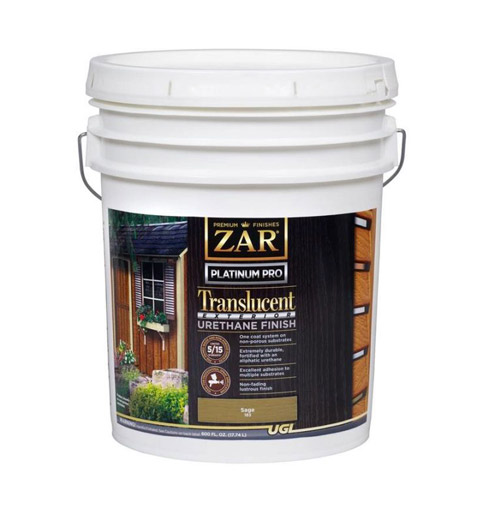 Zar Platinum PRO Exterior Urethane Finish Sage 5 Gallon