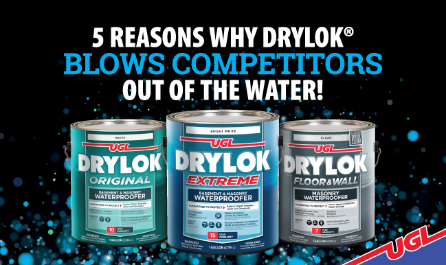 5 Reasons DRYLOK® blows competitors out water