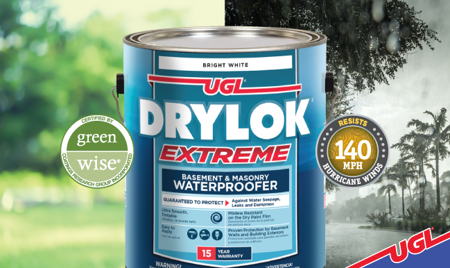 DRYLOK® Extreme environmentally responsible waterproofing