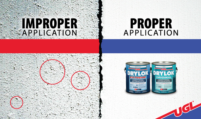 Improper vs. Proper Application of DRYLOK® Masonry Waterproofer