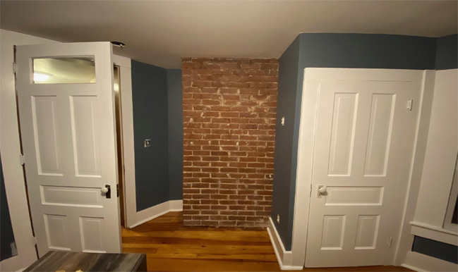 Brick chimney is functional and beautiful