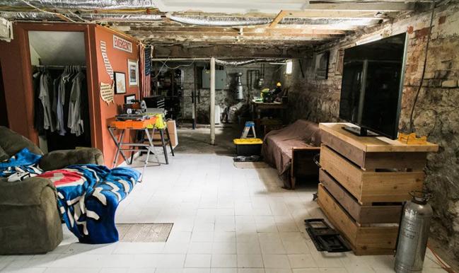 basement wit crumbling walls